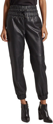 Joie Wadley Faux-Leather Jogger Pants