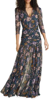 Veronica Beard Milja Floral-Printed Maxi Dress
