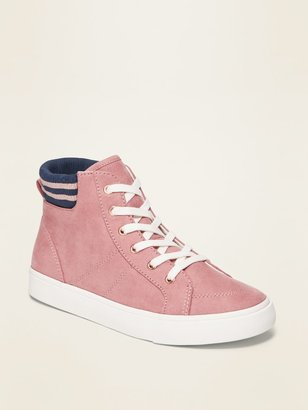 Old Navy Faux-Suede Pink High-Tops for Girls
