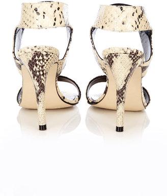 Wallis Snake Print Leather Sandal