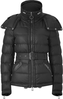 Belstaff Black Sussex Belted Cropped Jacket