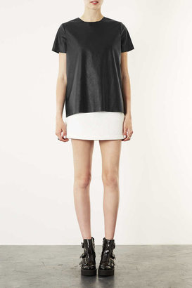 Topshop Leather-look T-shirt