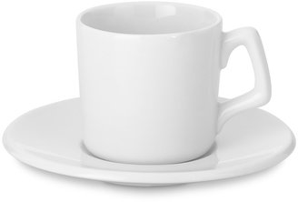 Williams-Sonoma Porcelain Espresso Cup with Saucer, Set of 4