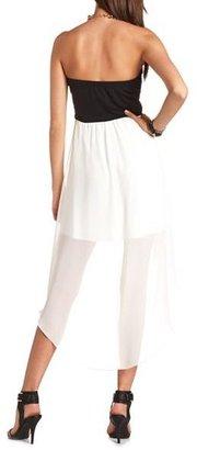 Charlotte Russe Sequin Bust Hi-Low Tube Dress