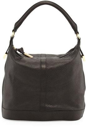 Foley + Corinna Embossed Leather Bucket Bag, Black