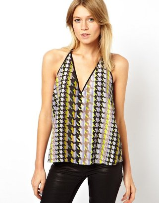 Asos Cami in Bright Dogtooth Print