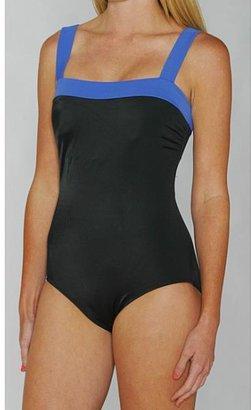 Jantzen Classics Dazzling Blue / Black Contrast 1-piece Swimsuit $49.99 thestylecure.com