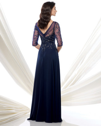 Mon Cheri MONTAGE BY MON CHERI - 115971W DRESS IN NAVY