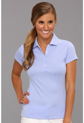 adidas CLIMALITE Solid Polo (Periwinkle) - Apparel