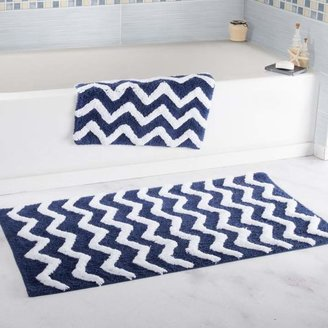 Trademark Global Lavish Home 100% Cotton Chevron 2-piece Bathroom Mat Set