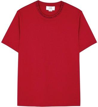 Victoria Victoria Beckham Red Logo-print Cotton T-shirt