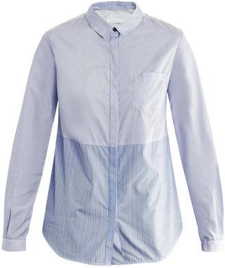 Richard Nicoll Contrast stripe shirt