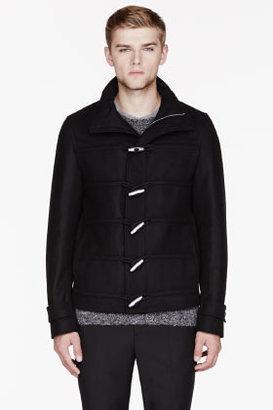 Kris Van Assche KRISVANASSCHE Black wool & Cashmere duffle coat