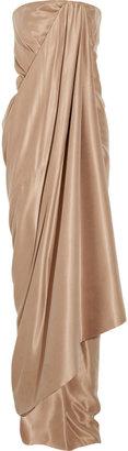 Kaufman Franco KAUFMANFRANCO Draped brushed silk-satin gown