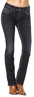 Silver Jeans Women's Suki Mid-Rise Slim-Super Stretch Bootcut Jean $78 thestylecure.com