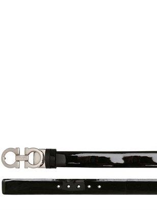 Salvatore Ferragamo 2.5cm Reversible Patent Leather Belt