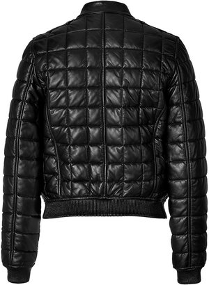 Burberry Quilted Leather Boblington Bomber Jacket