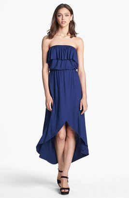 Sweet Pea Ruffled Tube Maxi Dress