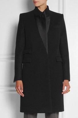 Stella McCartney Alexandra satin-trimmed wool coat