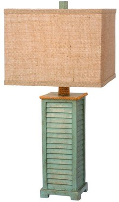 Fangio Lighting 25.5 in. Antique Green Resin Table Lamp