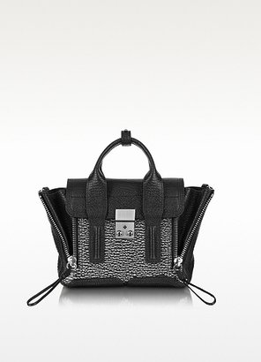3.1 Phillip Lim Pashli Black Embossed Leather Mini Satchel