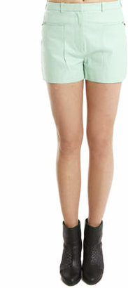 3.1 Phillip Lim A-Line Leather Shorts