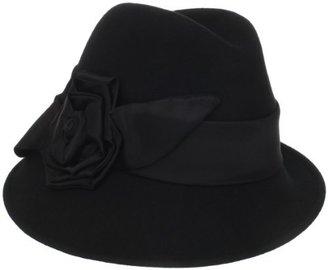 San Diego Hat Company San Diego Hat Women's 100% Wool Side Rose Cloche Hat