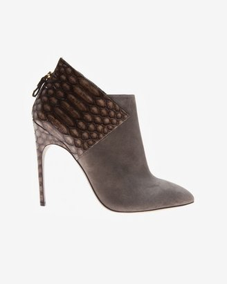 Sergio Rossi Suede/python Combo Bootie