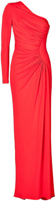 Elie Saab Ruched Jersey One Sleeve Gown