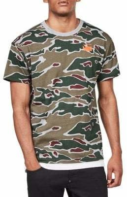 G Star Camo-Print Cotton Tee