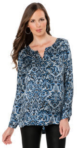 A Pea in the Pod Long Sleeve Patch Pocket Maternity Shirt