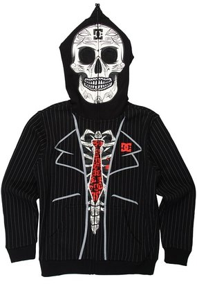 DC Kids - Day of the Dead Fleece (Big Kids) (Black) - Apparel