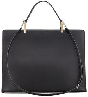 Balenciaga Le Dix Cartable Zip Satchel Bag, Black