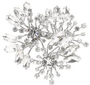 J.Crew Bouquet crystal brooch