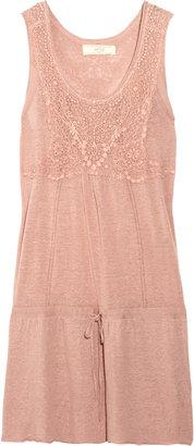 Vanessa Bruno Embroidered linen-blend dress