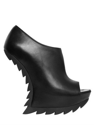 Camilla Skovgaard 150mm Leather Sculptural Open Toe Wedges