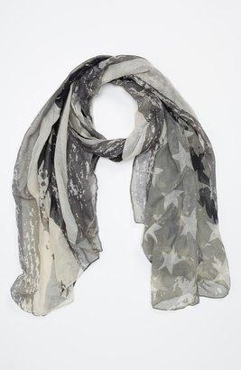 Lulu Flag Print Scarf Womens Black/ Grey One Size One Size