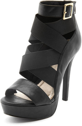 Charlotte Russe Multi Elastic-Strap Platform Heel