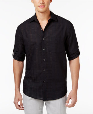 Tasso Elba Men's Textured Linen Shirt, Only at Macy's $59.50 thestylecure.com