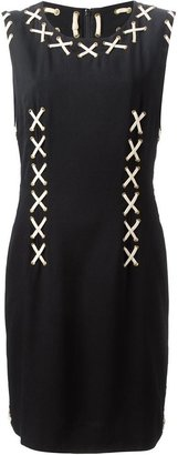 Moschino Vintage corset-laced dress
