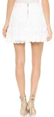 Alice + Olivia Gilberto Lace Box Pleat Skirt