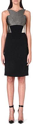 Antonio Berardi Brocade-detail fitted dress