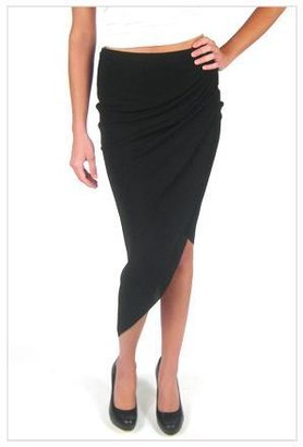 Helmut Lang Helix Asymmetric Skirt in Black