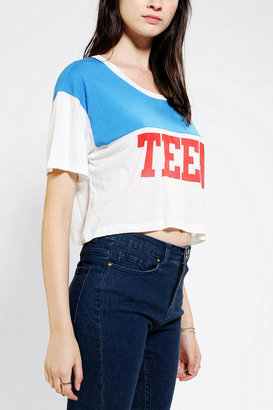 Truly Madly Deeply Teen Dream Colorblock Cropped Tee