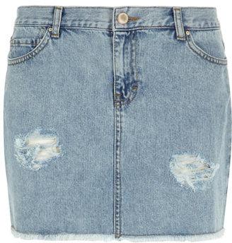 Dorothy Perkins Light wash mini denim skirt
