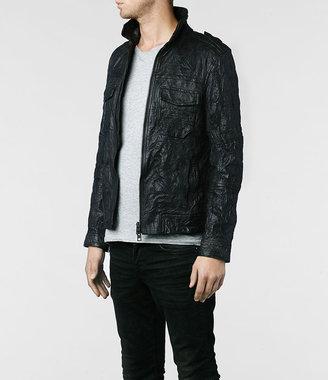 AllSaints Shift Leather Bomber Jacket