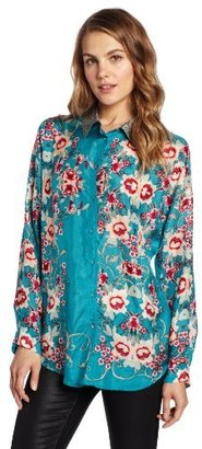 Johnny Was Women's Stacy A Print Top