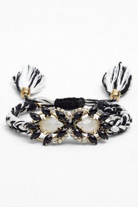 Cara Accessories Adjustable Woven Bracelet