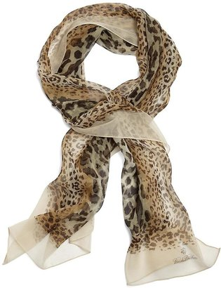 Brooks Brothers Silk Leopard Oblong