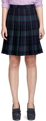 Brooks Brothers Wool Pleated Skirt
